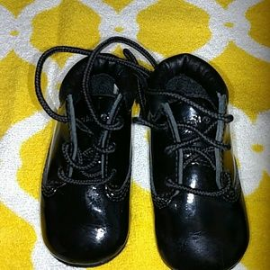 Other - Timberland Black Patent baby shoes sz 1